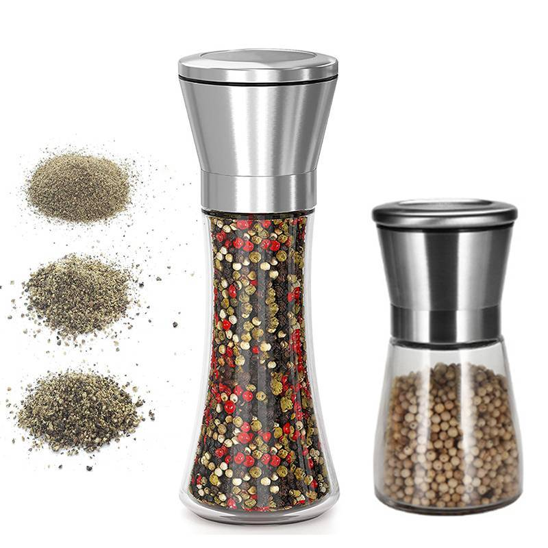 Electric Salt Pepper Spice Grinder Mill Stainless Kitchen Xmas Cooking Tool